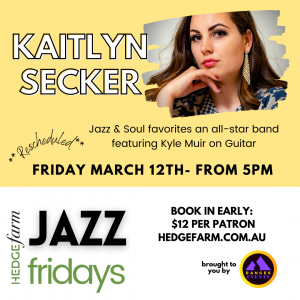 Jazz Friday featuring Kaitlyn Secker & Kyle Muir